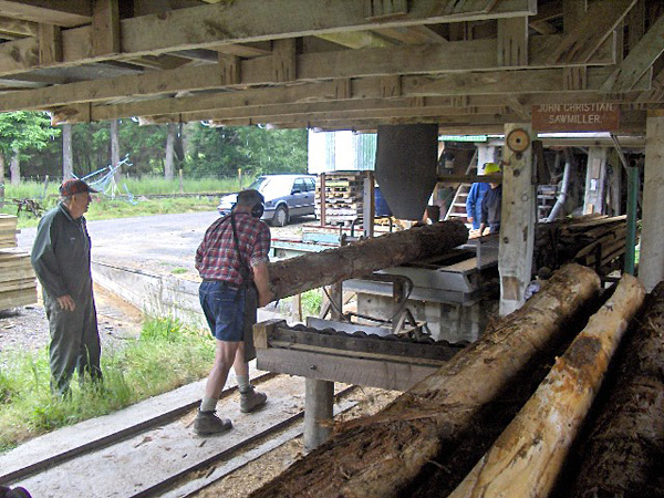 Log through the sawmill